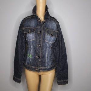 Ed Hardy 'Love Kills Slowly' Denim Jacket Size M